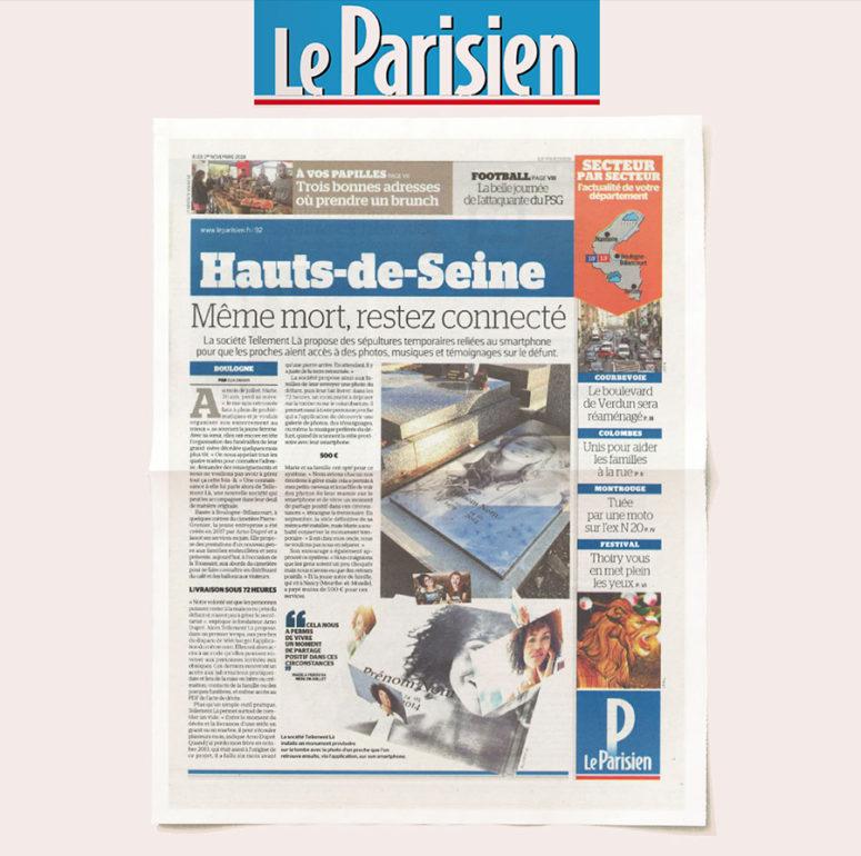 Le Parisien parution presse